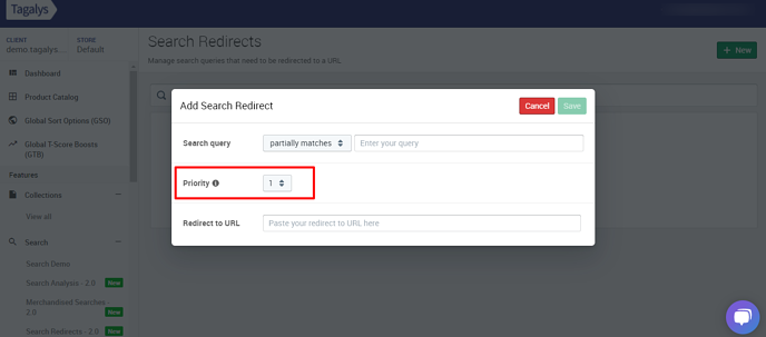 Search-Redirects-Tagalys