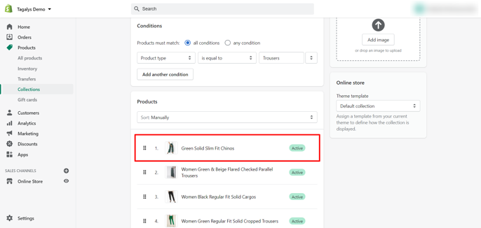 Shopify product image