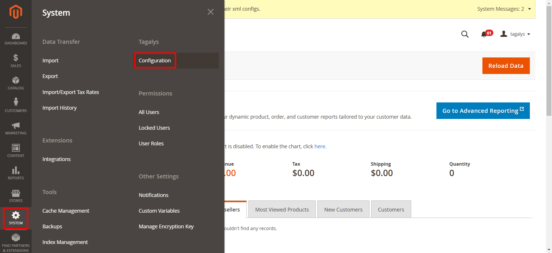 Tagalys Smart Categories in Magento 2