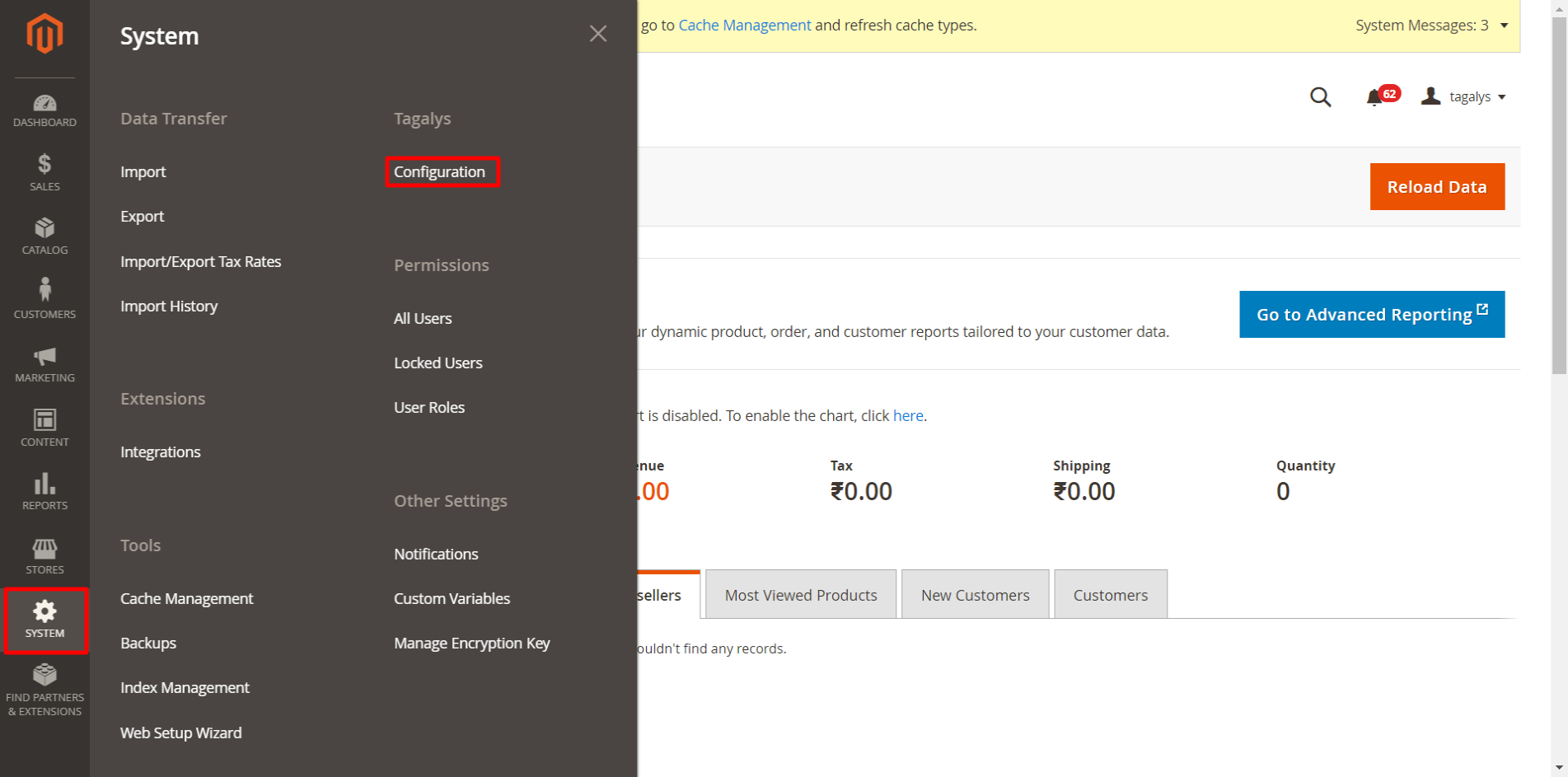 Enable all existing or future categories for merchandising on Tagslys.