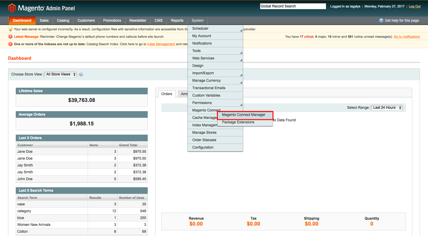 Uninstall Tagalys extensions from Magento Store