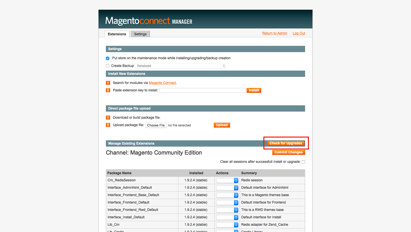 Upgrade to new version of extension in Magento
