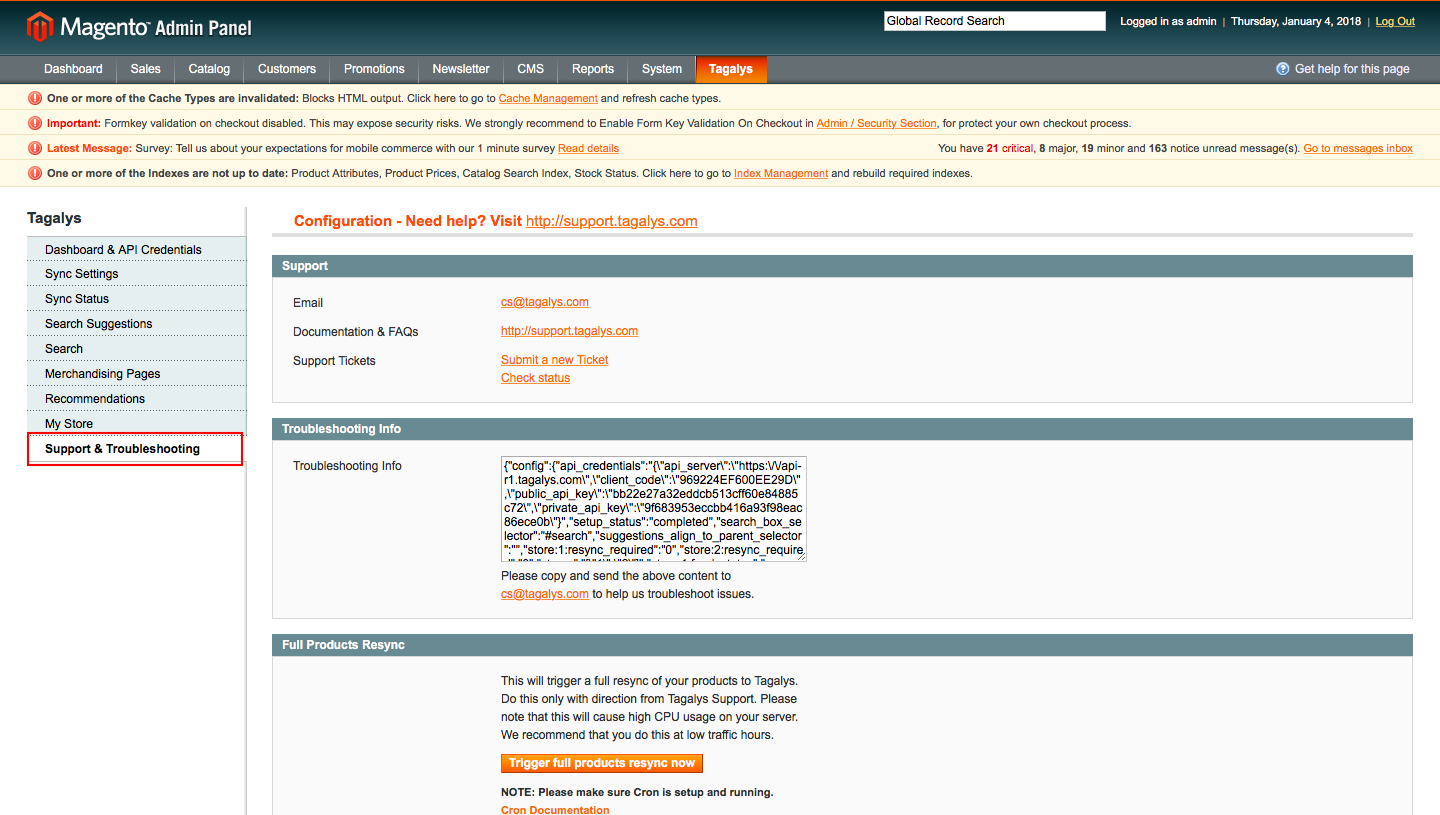 Full product Sync Manually in Magento 1