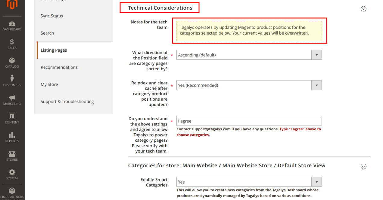 Technical Considerations of using Tagalys for existing categories