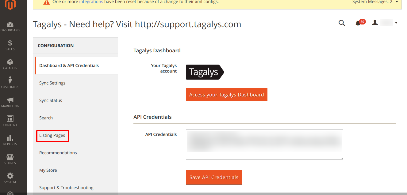 Recreate Magento Categories as Tagalys Smart categories