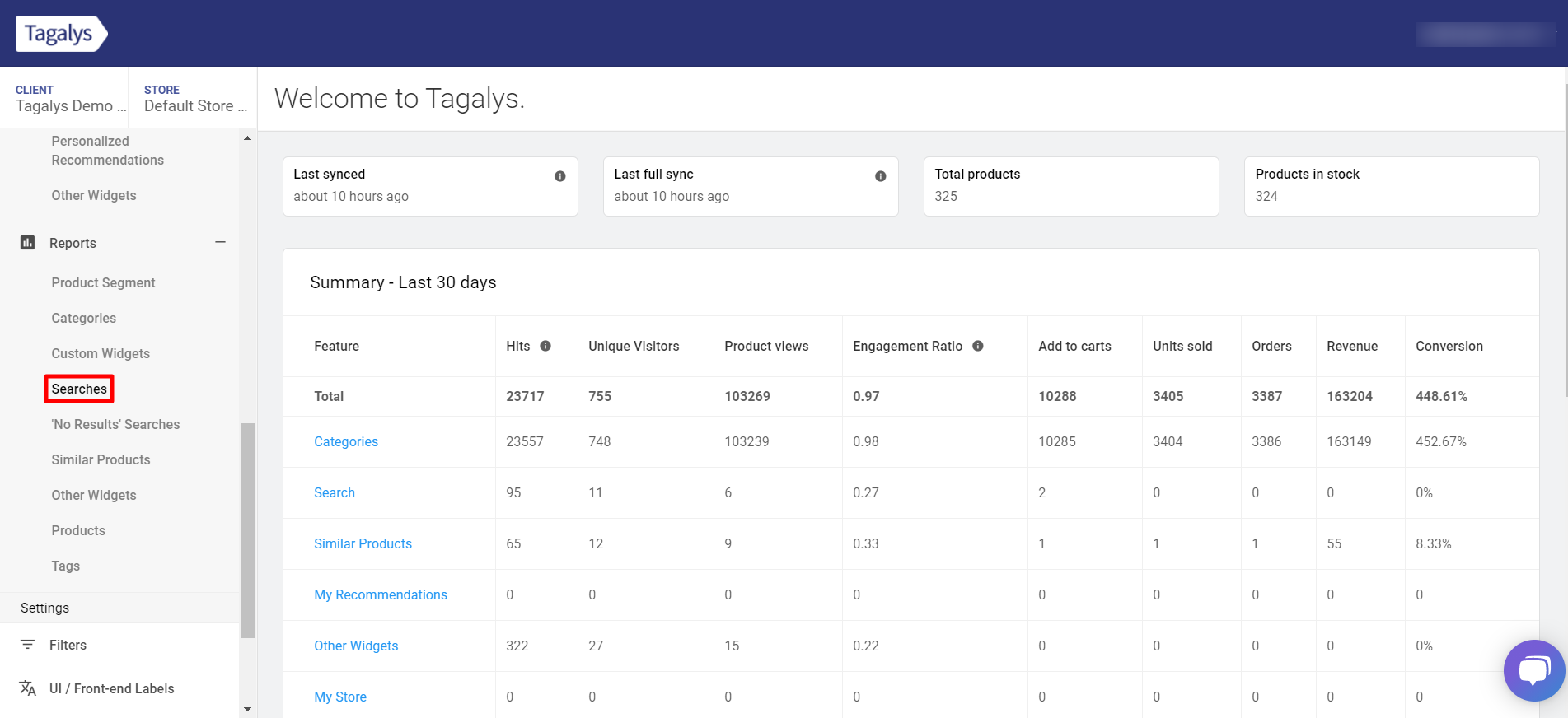 Download reports from Tagalys Dashboard