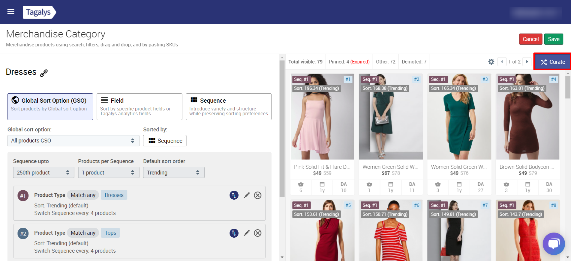 Demote products in a platform created Category or Collection